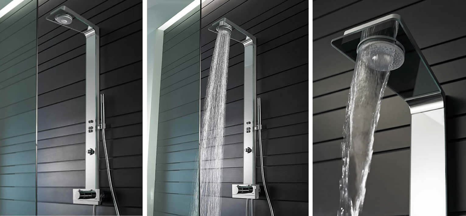 panel prysznicowy hansa smart shower z termostatem 58590900. Black Bedroom Furniture Sets. Home Design Ideas