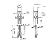 bateria Oras bezdotykowa Optima 2720f rysunek