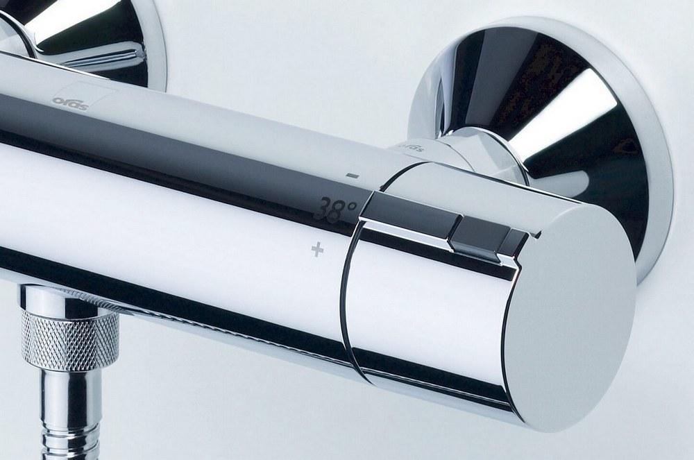Bateria prysznicowa termostatyczna Oras Cubista detal