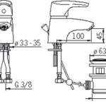Bateria umywalkowa Oras Saga 1904F tech