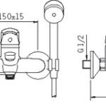Bateria wannowa Oras Saga 1951Y rysunek tech