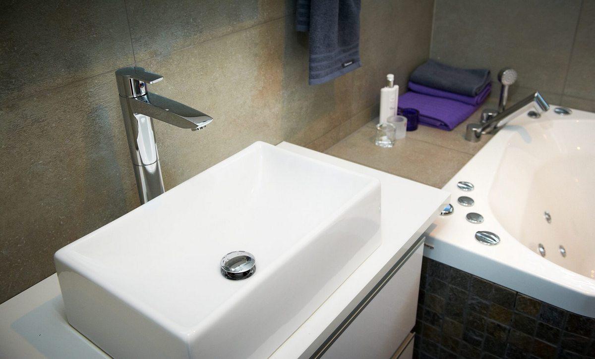 Bateria umywalkowa nablatowa Oras Cubista 2801
