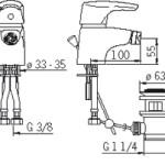 Oras 1918F bateria bidetowa rysunek