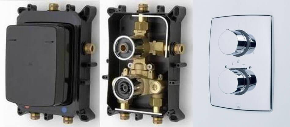 Oras Cubista 2888 Natynkowy element baterii podtynkowej z elementem podtynkowym