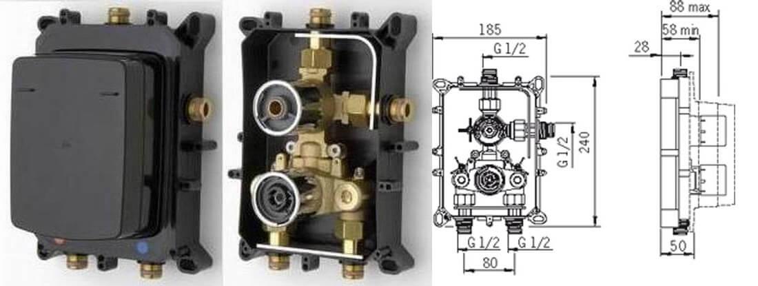 Bateria podtynkowa termostatyczna Oras 7128