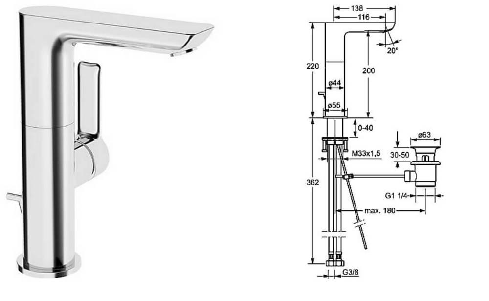 bateria umywalkowa hansa ligna z obrotow wylewk. Black Bedroom Furniture Sets. Home Design Ideas