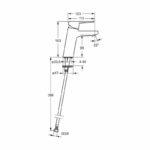 Bateria Oras Twista 3806F rysunek techniczny
